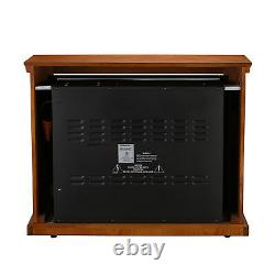 Infrared Electric Fireplace Insert Heater 1500W Overheat Flame Remote Control