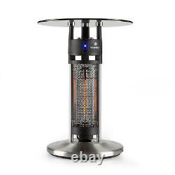 Infrared Heater Patio Space IR Sensor Glass Table Carbon LED Light Outdoor 1200W