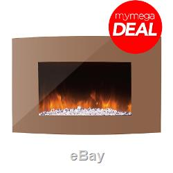 Innocenti REF90003 35 Inch Wall Mounted Curva Electric Fire with Remote Control
