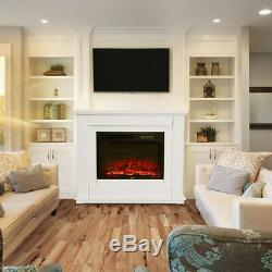 Insert Complete Fireplace Remote Control Electric Fire Surround And Hearth Set