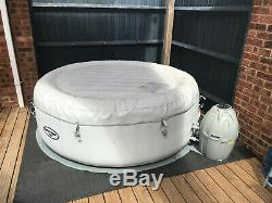 Lay-Z-Spa Paris Hot Tub with Remote Controlled LED Lights & Loads of Extras