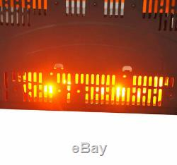 Led Backlit Glass Electric Wall Mounted Fireplace Fire Back Lights