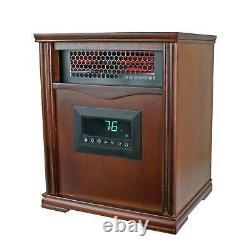 LifeSmart LifePro Dark Oak 1500 Watt Infrared Electric Portable Space Heater