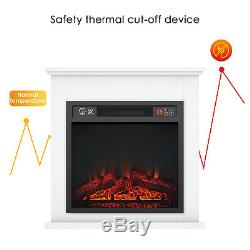 Luxury 1800W Electric Fireplace Suite LED Log Fire Burning Flame with Surround