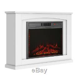 Luxury 1.8KW Electric Fireplace Suite LED Log Fire Burning Flame MDF Surround XL