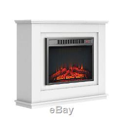 Luxury 1.8KW Electric Fireplace with Suround LED Fire Log Burning Flame Heater