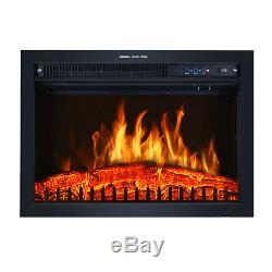 Luxury 2000W Electric Fireplace Suite LED Log Fire Burning Flame + MDF Surround