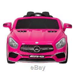 Mercedes Benz Ride On Car Kids 12V Licensed Electric AMG Remote Control Pink