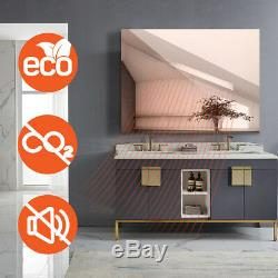 Mirror Infrared Heater Electric Bathroom Heating Panel Wall Mount Raditor IP54