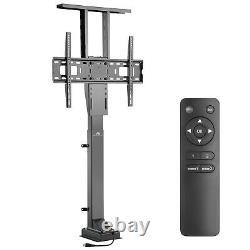 Motorised TV Lift Stand Electric Cabinet Mount Remote 37-65 50kg VESA 600x400