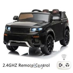 NEW 12v Kids Electric Battery Ride on Car Parental Remote Control Black