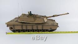 NEW Heng Long Radio Remote Control RC Abrams M1A2 Desert Camo Tank 1/16th 2.4GHz