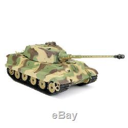 NEW V6 RC TANK HENGLONG King Tiger 2.4G Radio Remote Control RC Military Army BB