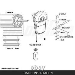 New Garage Roller Door Opener Motor Rolling Gate Automatic Remote Control