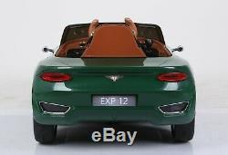 New Green Bentley Exp12 12v Electric Ride On Car Remote Control Leather Seat