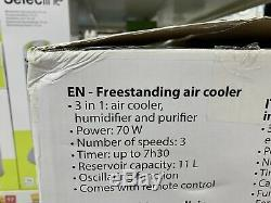 New Portable Air Conditioner Cooler Fan With Remote control 70w 3 Speed Unit