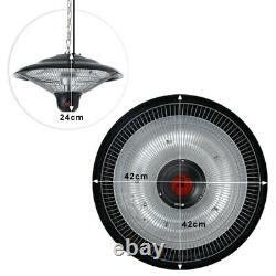 Outdoor/Indoor Electric Heater 1500W Patio Ceiling Hanging Mount Heaters 3 Level