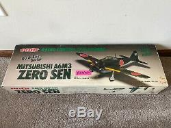 Pilot Mitsubishi A6M3 Japanese Zero Balsa Wood RC Remote Control Airplane Kit
