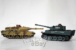 RTR Remote Control RC Infrared Military Army Battle Shooting Tank Set Of 2 Toy