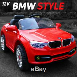 Ride On 12v Kids Bmw Style Car Electric Battery Remote Control Toy Car / Cars
