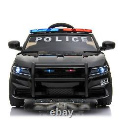 Ride On 12v Kids Electric Police Style Battery Remote Control 2.4g Toy Car
