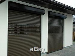 Roller Garage Door, electric remote controlled, 55 mm foam filled profiles