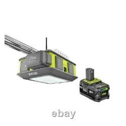 Ryobi Garage Door Opener 2HP Belt Drive with Battery Backup WiFi Ultra Quiet NEW