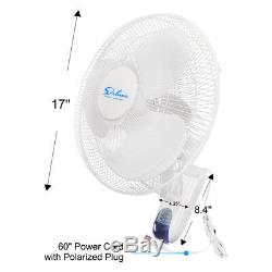 Simple Deluxe Clip On Fan OR Wall Mount Oscillate Digital Fan for Home Grow Tent