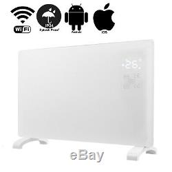 Smart WIFI App Control 2000W White Glass Electric Radiator / Wall Panel Heater