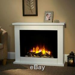 Suncrest Copley Electric Fireplace Suite White