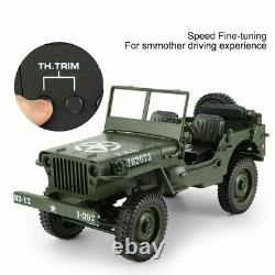 Toy Car Military Model 110 Mini Jeep Remote Control Buggy 4WD RC Truck Off-Road