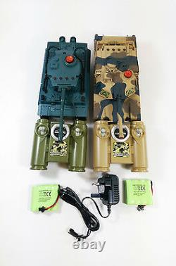 UPGRADED 2.4GHZ Pack Battle Infra red Radio Remote Control RC Infrared Tiger Toy