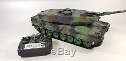 V6 2.4G RC 116 Heng Long Leopard 2A6 Airsoft Tank Smoking Remote Control Tank