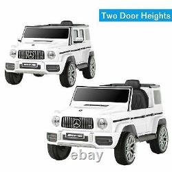 White Kids Ride On Car Electric with Remote Control, Horn Motorized Vehicles 12V