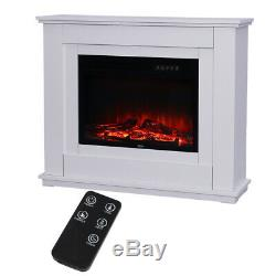 White Wall Fires Frees Sand Electric Fireplace Suite with Arch MDF Fire Surround