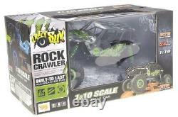 110 Rc 2.4g Hors Route Vert 24'' Rock Crawler Camion 4wd Télécommande Brossé
