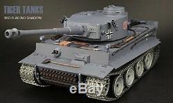 116 German Tiger I Rc Réservoir Ultime Métal Version 2.4ghz Smoke & Sound New