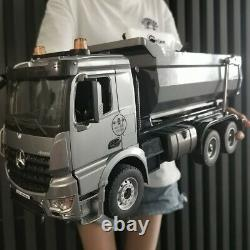 120 Mercedes Benz Arocs Rc Dump Truck Modèle Alliage Tipper Télécommande Jouet De Voiture
