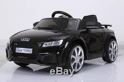 12 T Twin Motors Audi Tt Kids Tour Électrique Sur Noir De Contrôle Parental De Voiture