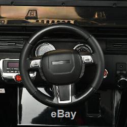 12 V Electric Ride On Car Atv Suv Télécommande 4 Vitesses Music Black