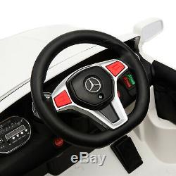 12v Enfants Ride On Voiture Électrique Licensed Mercedes Benz Télécommande Motors Blanc
