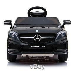 12v Enfants Tour Sur La Voiture Électrique Mercedes Benz Licensed Remote Control Motors Noir