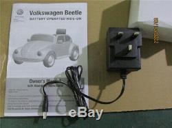 12v Enfants Tour Sur La Voiture Électrique Vw Beetle À Distance Licensed Double Contrôle Motors Usb