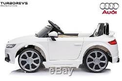 12v Jumeaux Motors Audi Tt Enfants Électriques Tour Sur La Voiture Parental À Distance Blanc Contrôle