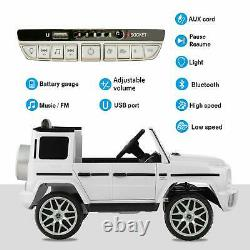 12v Kids Ride On Car Electric Motorized Vehicles With Remote Control, Horn White