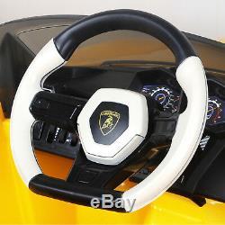 12v Lamborghini Enfants Cars Ride On Urus Électrique À Distance Licensed Jaune Contrôle