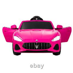 12v Maserati Licence Pink Kids Ride On Electric Car With Music Remote Control