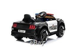 12v Police Enfants Électrique Tour Sur La Voiture Batterie Avec Télécommande Parental 2.4g