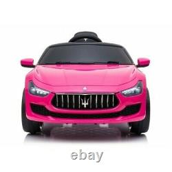 12v Rose Maserati Ghibli Conduite Électrique Sur La Voiture Avec Télécommande Parentale