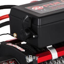 13500lbs 12v De Récupération De Treuil De Corde Synthétique Électrique À Télécommande Singleline